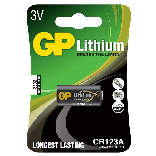 Lithiumbatteri GP 3 V CR123A